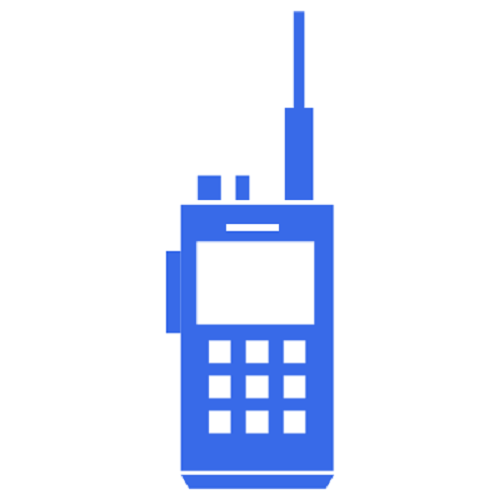 Icon of a walkie talkie.